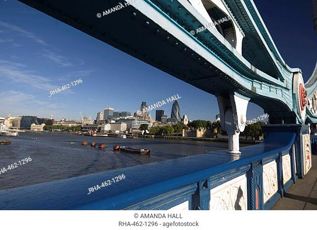 The City of London from Tower Bridge, London, England