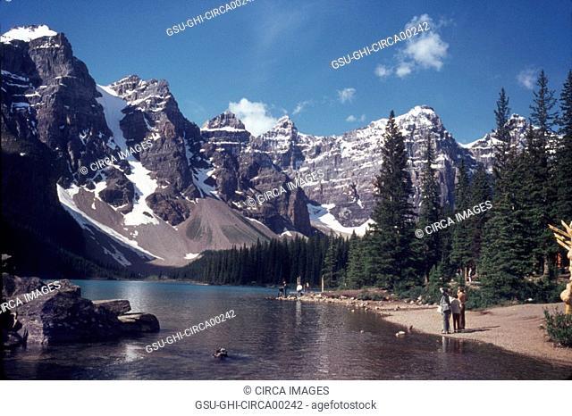Ten Peaks and Moraine Lake, Banff National Park, Alberta, Canada, 1968