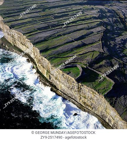 Dun Aengus Fort, . Inishmore Island, The Aran Islands,. Off County Galway, Ireland