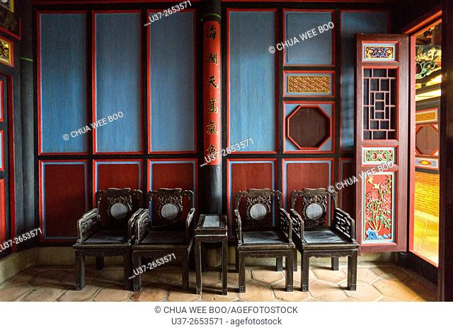 The Living Room of Taiwanese classical old house, Kinmen Cultural Village, Taiwan