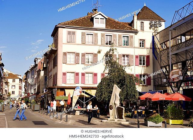 France, Doubs, Montbeliard, Place Denfert Rochereau Denfert Rochereau Square