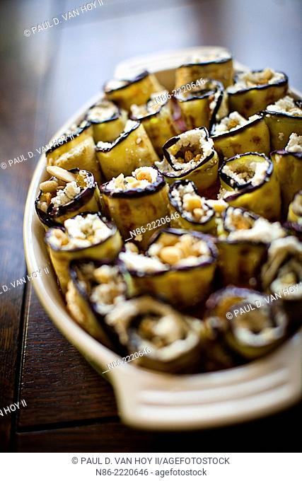 sicilian eggplant roll-ups with ricotta cheese