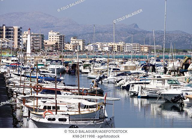 puerto deportivo de Can Picafort, municipio de Santa Margarita, Bahia de Alcudia,islas baleares, Spain