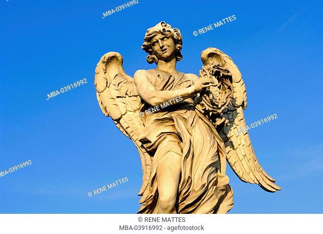 Italy, Rome, Ponte Sant' Angelo, bridge-figure, angels