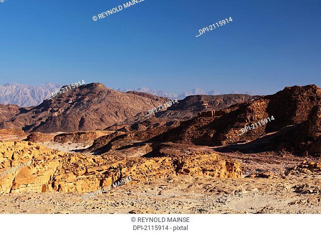 Landscape in the timna valley, timna park arabah israel