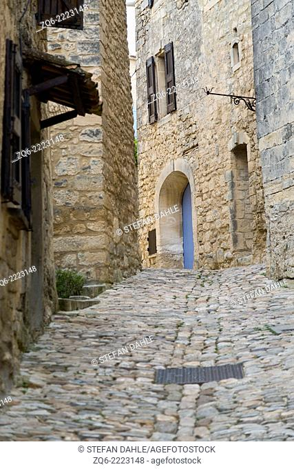 Typical Street in the medieval Village Lacoste,Provence, France