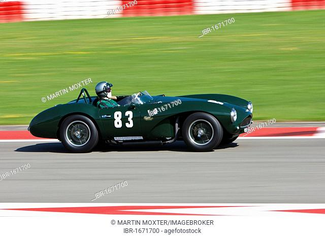 Race of post-war racing cars, Aston Martin, at the Oldtimer Grand Prix 2010 on the Nurburgring race track, Rhineland-Palatinate, Germany, Europe