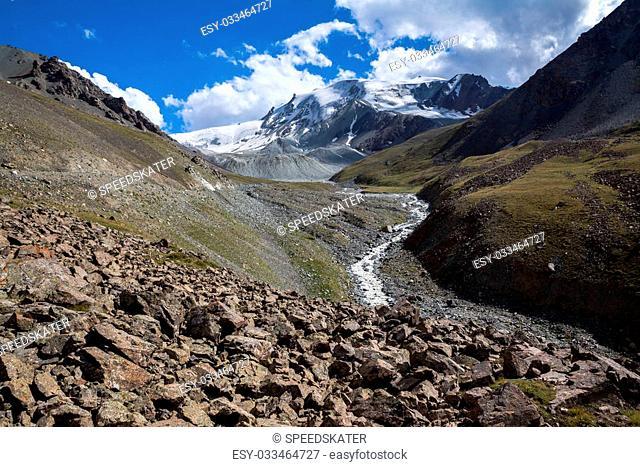 River in Tien Shan mountains. Kyrgyzstan