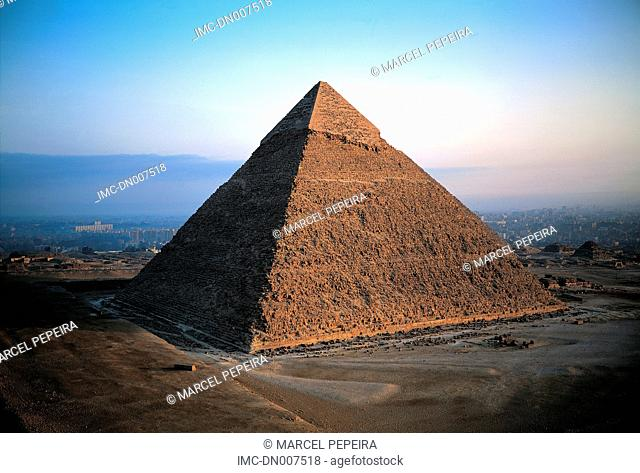 Egypt, Cairo, Gizeh, pyramid of Kheops