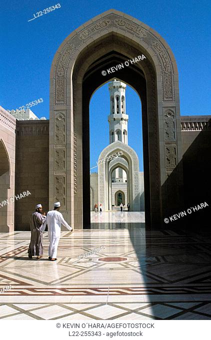Sultan Qaboos Grand Mosque. Muscat. Sultanate of Oman. Middle East
