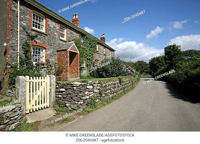 Caerhays Village, Goran, Cornwall, UK