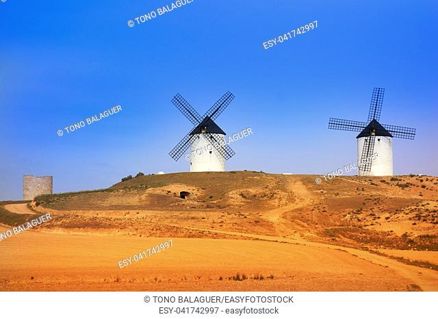 Tembleque windmills in Toledo at Castile La Mancha on Saint james way