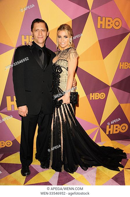 The HBO Golden Globe After Party 2017 Featuring: Carmen Electra, Clifton Collins Jr. Where: Los Angeles, California, United States When: 08 Jan 2018 Credit:...