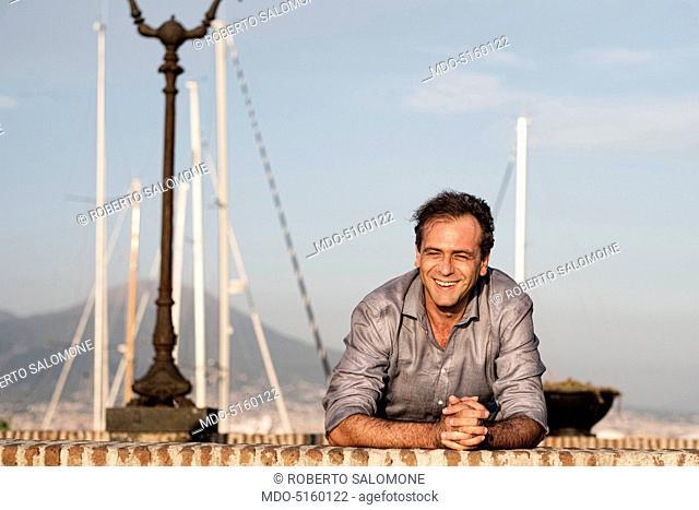 Claudio De Magistris, brother to the Mayor of Naples Luigi De Magistris. For years Claudio has managed the PR for his brother Luigi. Naples, Italy