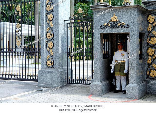 Guard the entrance to the royal residence, Kuala Lumpur, Malaysia