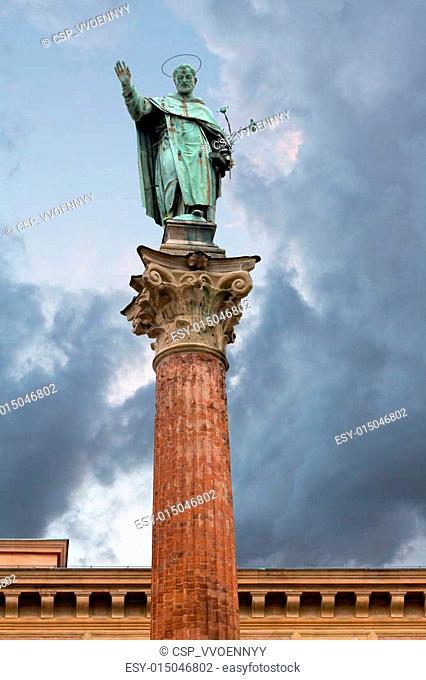 column of Saint Dominic, Bologna, Italy