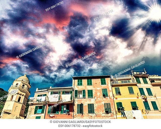 Landscape of Cinque Terre, Italy