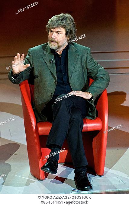 01 01 2012  Telecast RAI 3, 'Che tempo che fa', Milan, Italy, Rehinold Messner