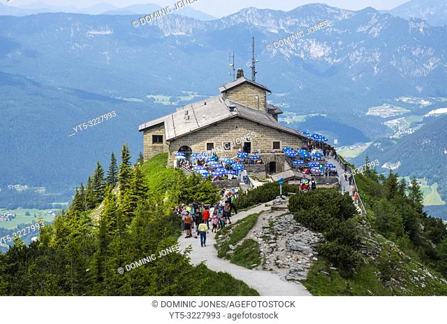 The Kehlsteinhaus or The Eagle's Nest, Obersalzburg, Berchtesgaden, Germany, Europe