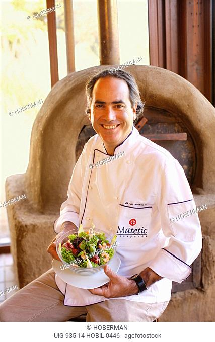 Chef Matias Bustos, Matetic Wine Estate, Chile