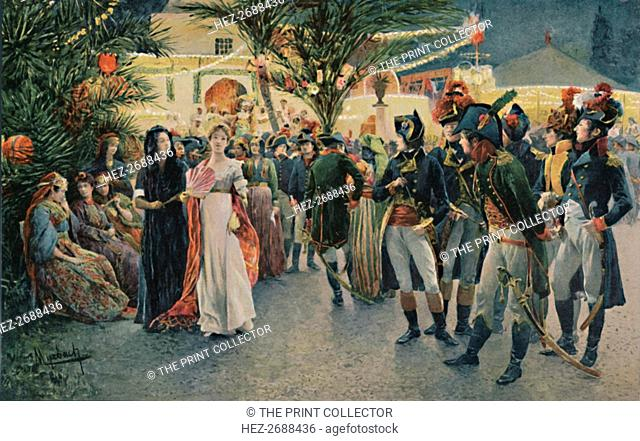 'Bonaparte, Kleber, Eugène De Beauharnais, Lasalle and Junot at the Tivoli Garden in Cairo', 1896. Artist: Unknown