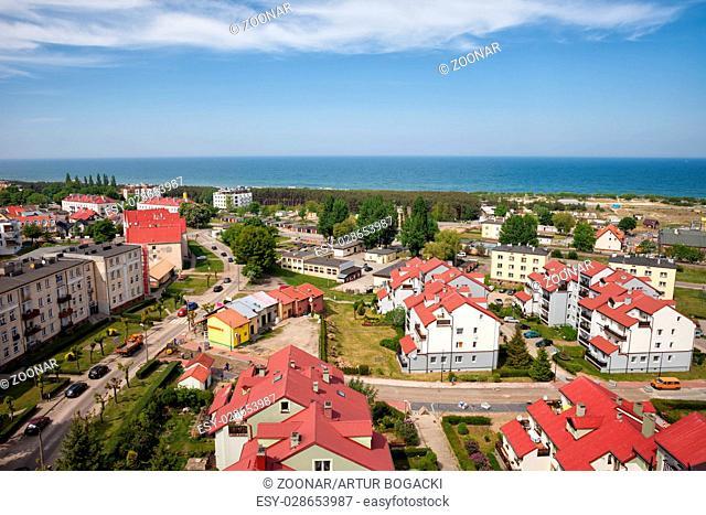 Wladyslawowo Town at Baltic Sea in Poland