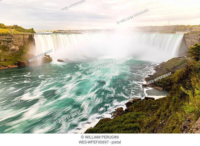 Canada, Ontario, Niagara Falls dramatic long exposure view