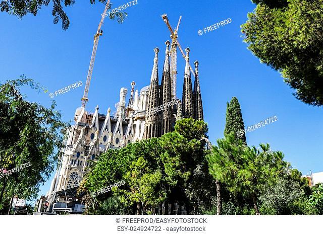 Sagrada Familia in Barcelona, Spain, Europe