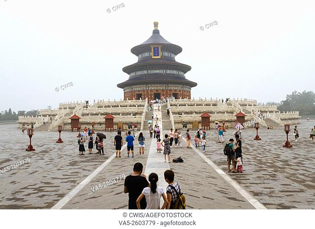 Beijing, China - The view at the Temple of Heaven in the daytime