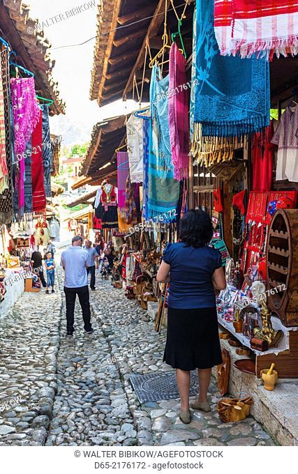 Albania, Kruja, town bazaar