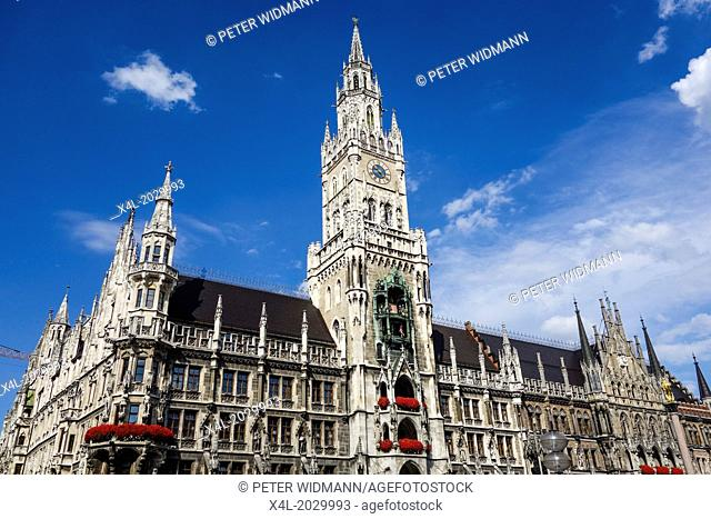 New Town Hall in Munich, Marienplatz, Bavaria, Germany
