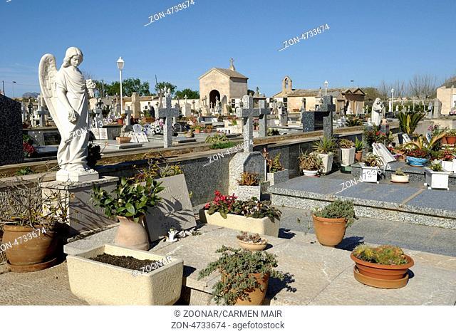 Friedhof von Alcudia, Mallorca, Spanien