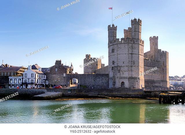 Caernarfon Castle, Caernarfon, Gwynedd, Wales, United Kingdom