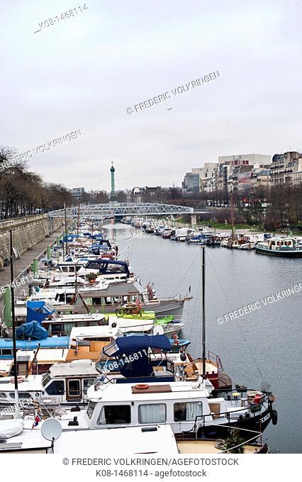 Marina, Arsenal, Port of Paris, la Bastille, Paris, France