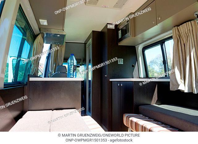 New Zealand, Manawatu-Wanganui, Whanganui, Interior of a mobile home