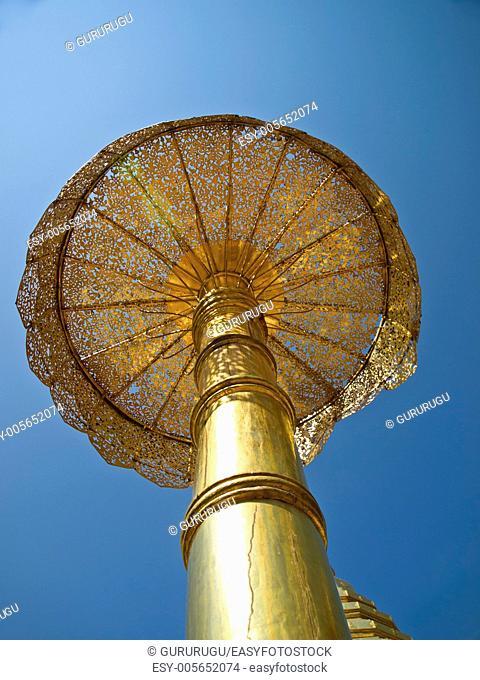 Golden umbrella, Wat Phrathat Doi Suthep temple in Chiang Mai, Thailand
