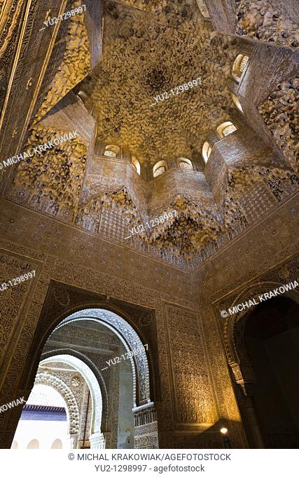 Hall of the Abencerrajes in Alhambra Granada, Spain