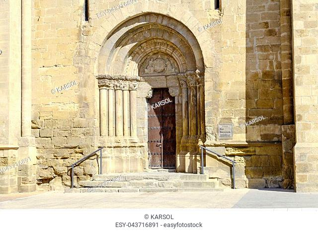Entrance to church of the Savior, Ejea de los Caballeros, Saragossa Spain