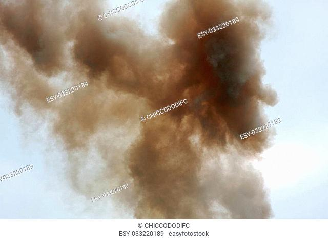 abstract shapes of clouds and smoke into the sky 4