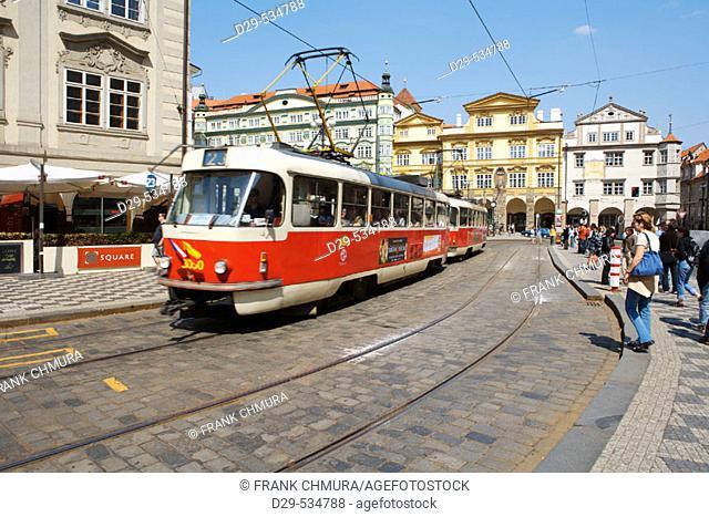 Czech Republic, Prague. Lesser Town square. Malostranske Namesti