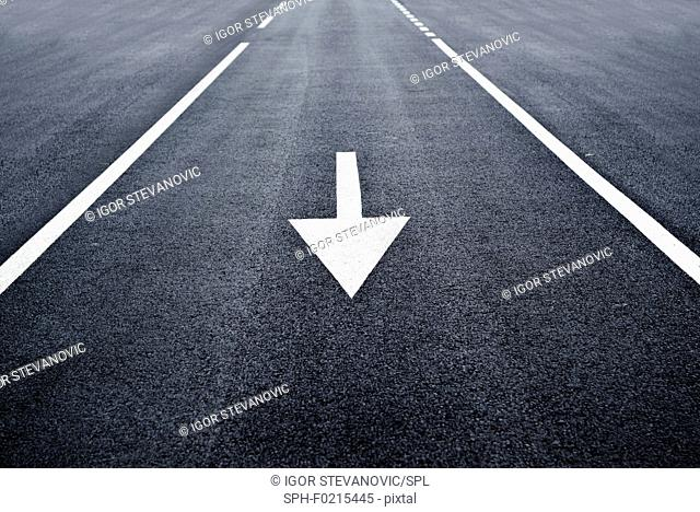 Arrow road marking