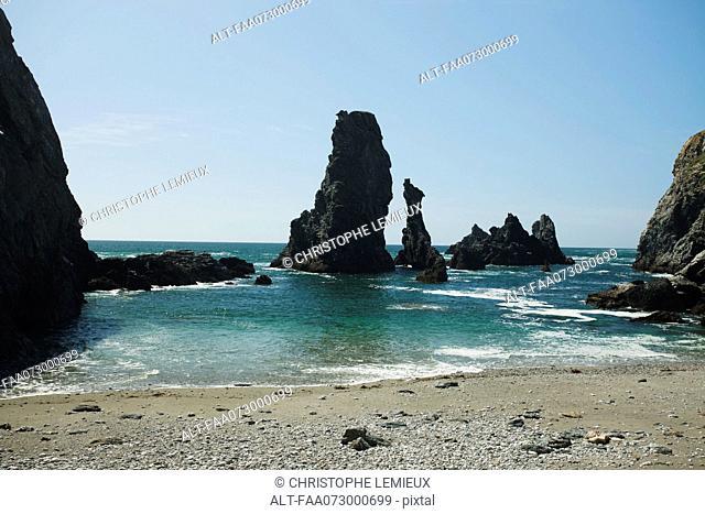 Aiguilles de Port Coton Needles of Port Coton, Belle-Ile-en-Mer, Morbihan, Brittany, France
