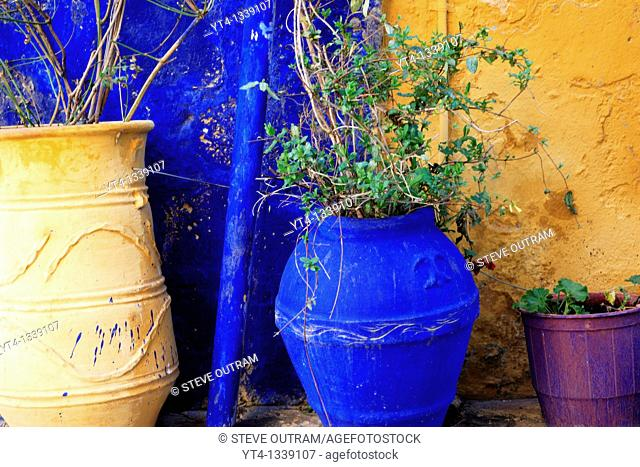 Greece, Crete  Three Flowerpots, Chania Old Town
