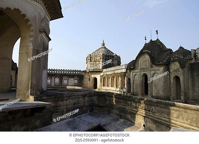 Raj Mahal. Orchha Palace (Fort) Complex. Orchha. Madhya Pradesh. India