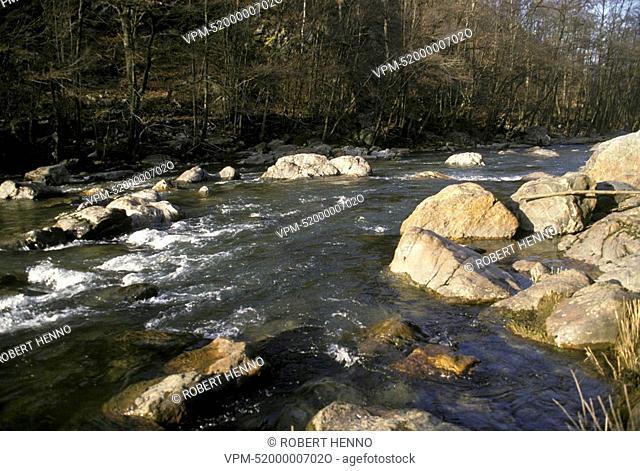 AMBLEVE RIVERFONDS DE QUARREUXREMOUCHAMPS - ARDENNE - BELGIUMWINTER