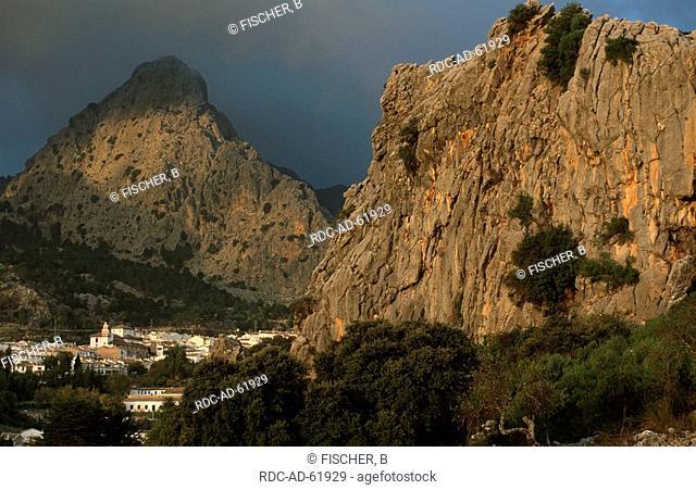 Grazalema in front of Sierra de Grazalema Andalusia Spain