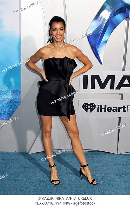 """Stephanie Sigman 12/12/2018 """"""""Aquaman"""""""" Premiere held at the TCL Chinese Theatre in Hollywood, CA Photo by Kazuki Hirata / HNW / PictureLux"""