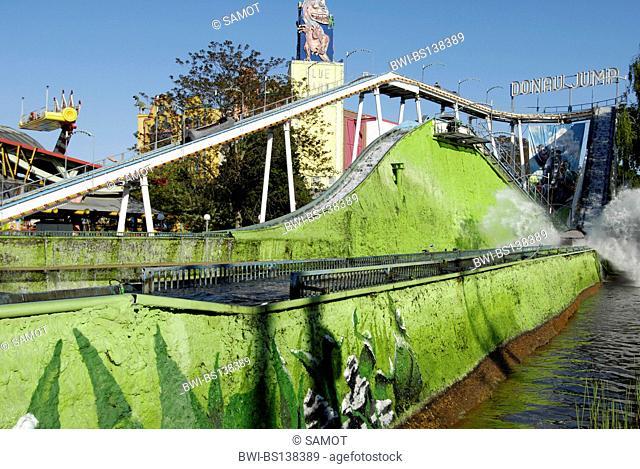 amusement park Vienna Prater, water slide, Austria