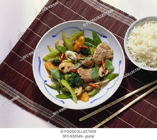 Assorted Vegetables with Pork Fillet