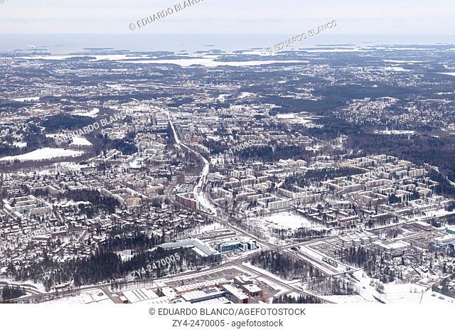 Air view. Helsinki. Finland. Europe